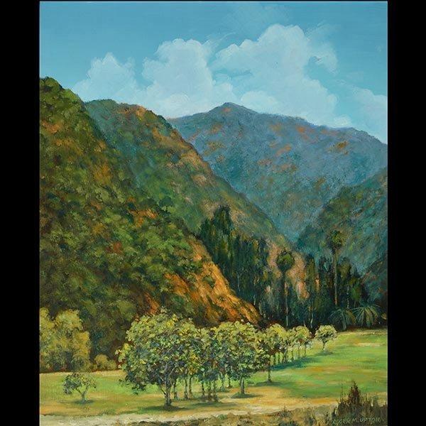 ROGER UPTON California Landscape Oil on canvas