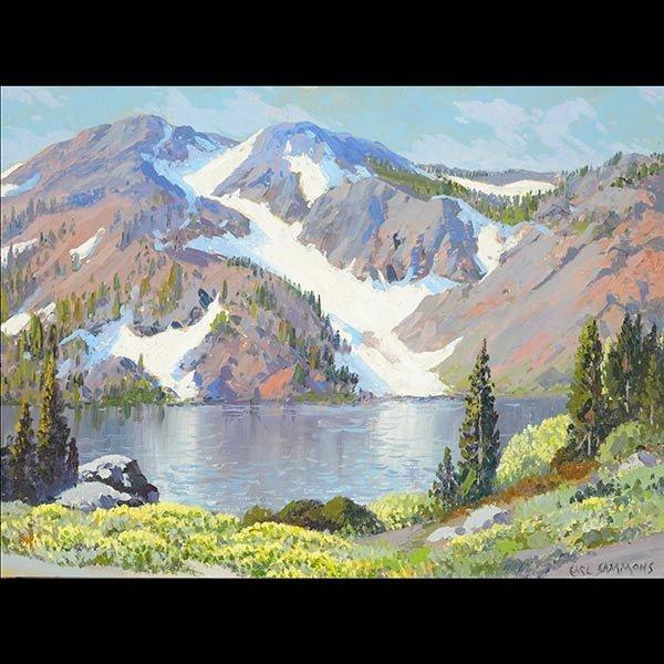 """CARL SAMMONS """"High Sierra"""" California Art"""
