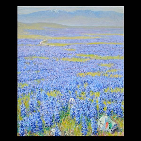 CALIFORNIA SCHOOL Valley of Lupin Oil on canvas