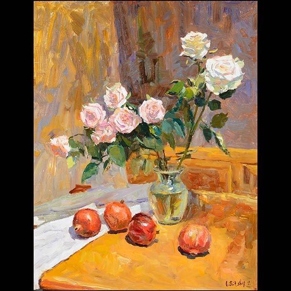 "OLEG ULITSKY ""Still Life"" Oil, Ukrainian Art"