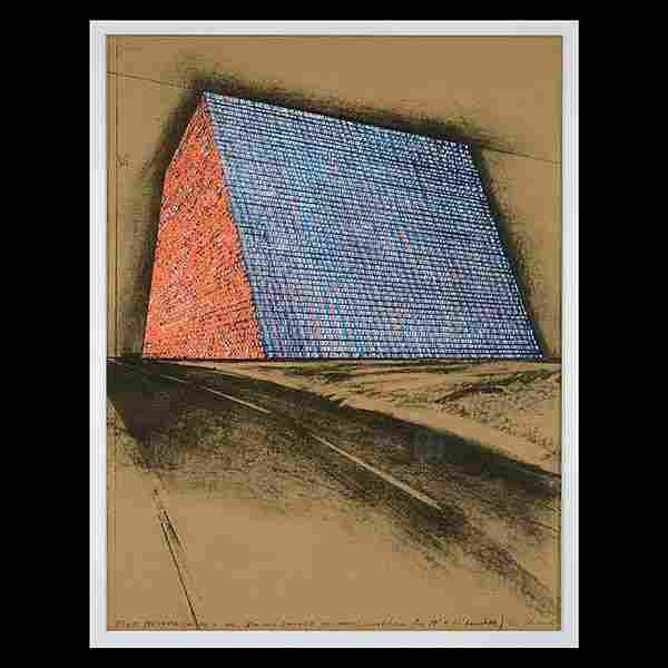 "CHRISTO Contemporary Print ""Texas Mastaba"""