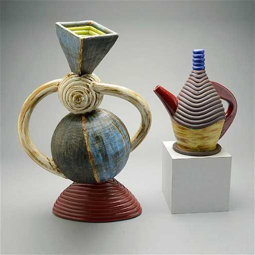 JAMIE WALKER Contemporary Ceramic Teapot and Vase