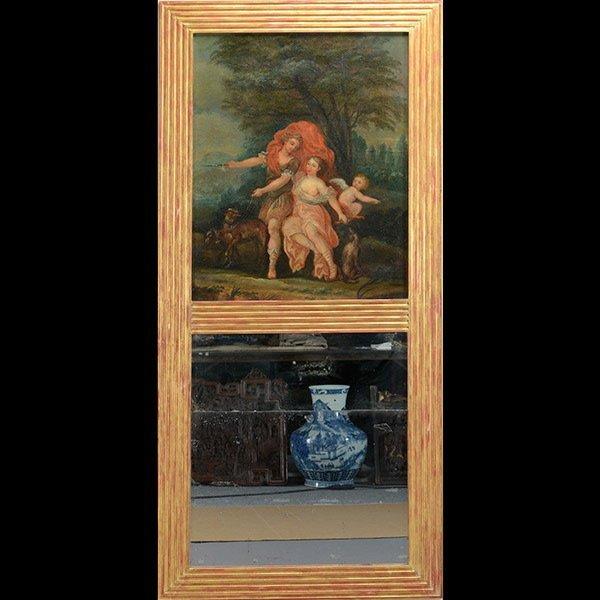 Large Louis XV Style Trumeau Mirror
