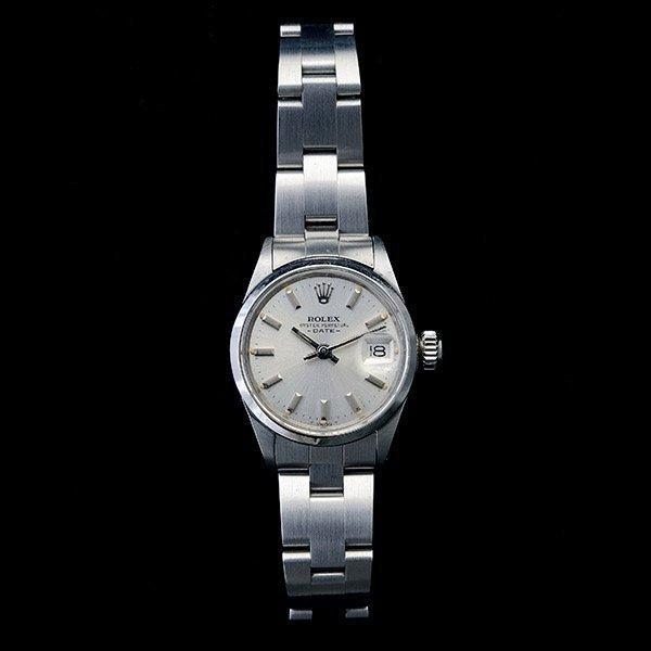 Ladies Rolex Date Steel Wristwatch.