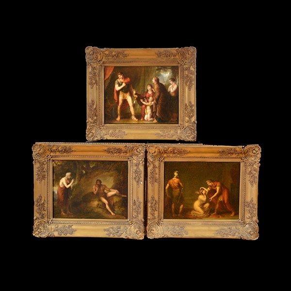 Three 18th Century European Paintings Greek Scenes