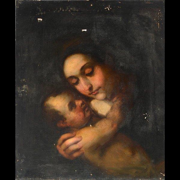 19th Century European School, Madonna and Child