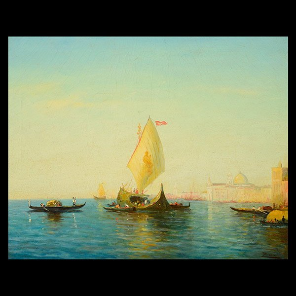 FELIX ZIEM  View of Venice,  Oil on canvas