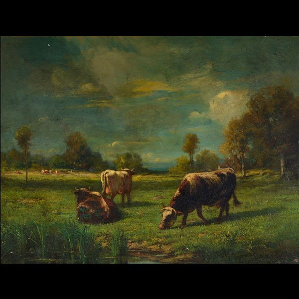 """CONSTANT TROYON """"Cows Grazing in Pasture"""""""