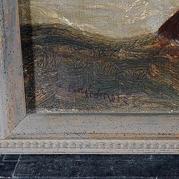 "EDWARD REDMORE ""Danger at Sea"" Oil on canvas - 2"
