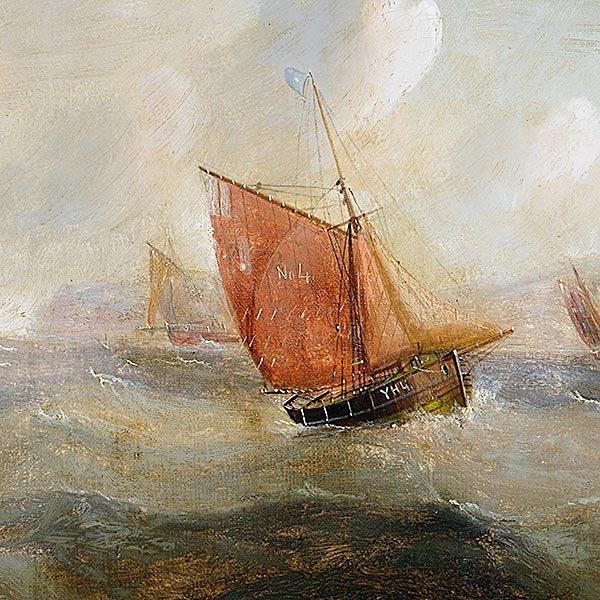 "EDWARD REDMORE ""Danger at Sea"" Oil on canvas - 3"
