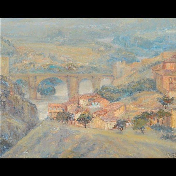 ALFREDO SALAZAR Landscape Oil on canvas