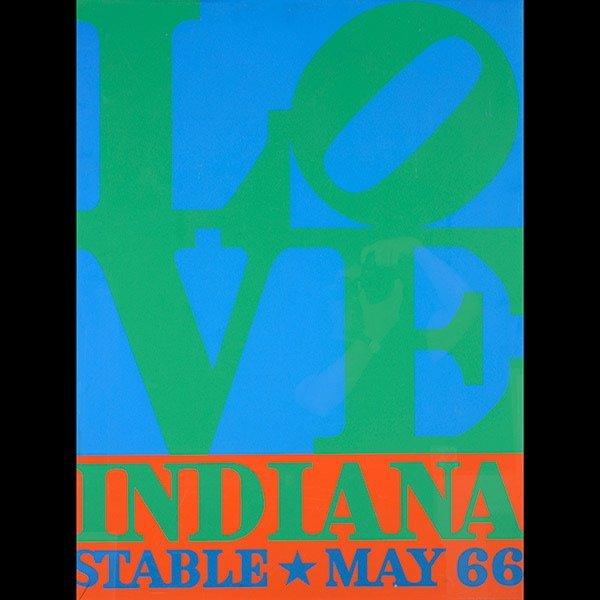 ROBERT INDIANA Love Poster, Stable 1966