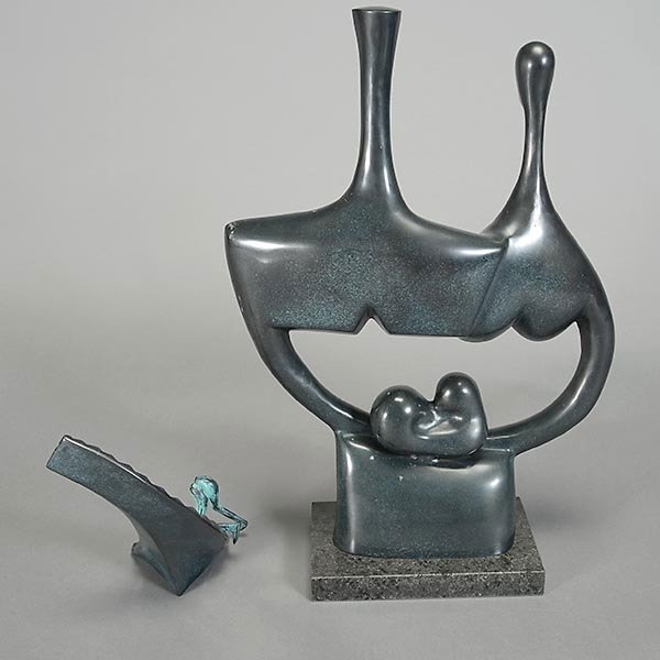 Two Bronze Abstract Sculptures - 4