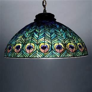 Tiffany Studios Peacock Chandelier.