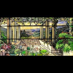 Tiffany Studios Landscape Window.