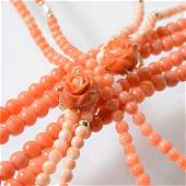 Coral Cultured Pearl Yellow Gold Metal Items