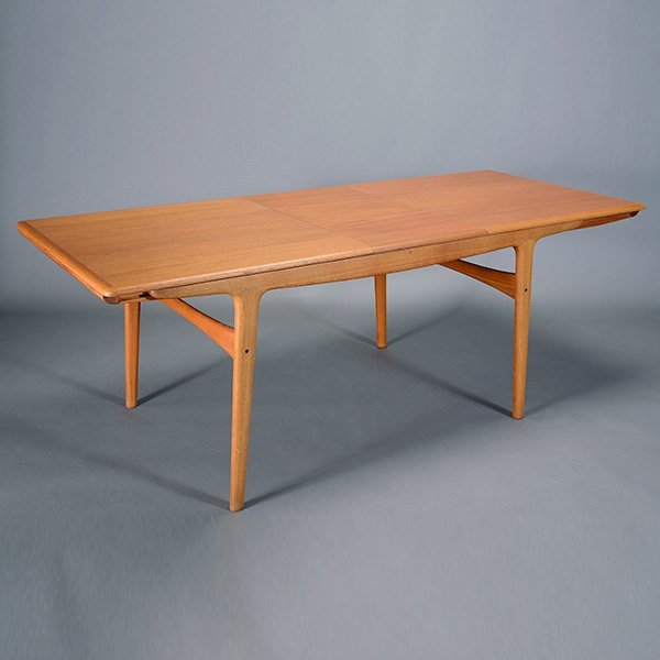 Danish Dining Table with Two Leafs.