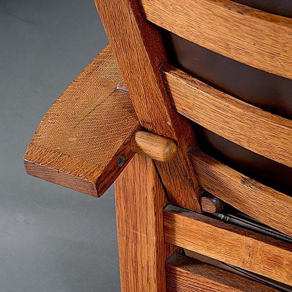 Gustav Stickley Bow Arm Morris chair - 5