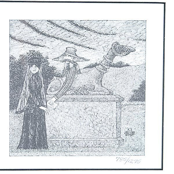 EDWARD GOREY Lot of 2 prints from PBS Mystery! Series - 3