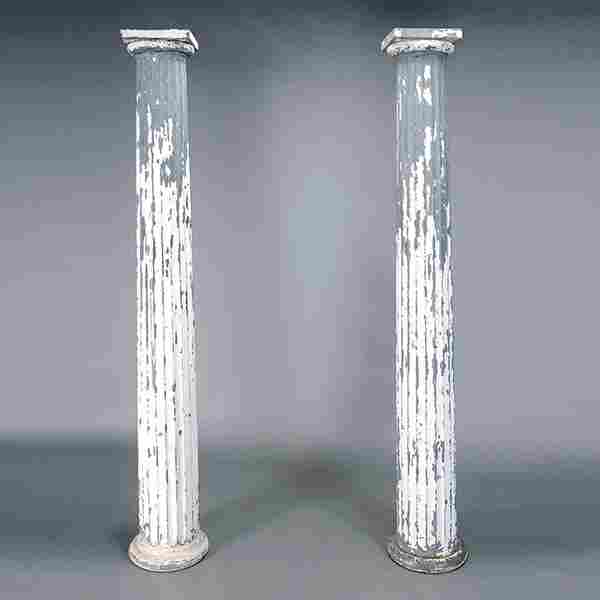 Pair of Classical Revival Painted Columns