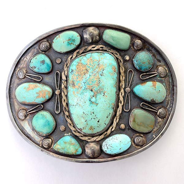 Turquoise, Sterling Silver Buckle.