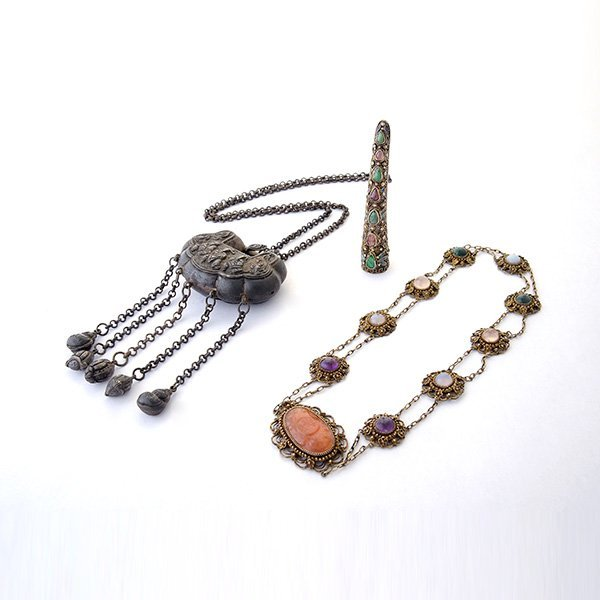 Collection of Silver, Multi-Stone Ethnic Jewelry.