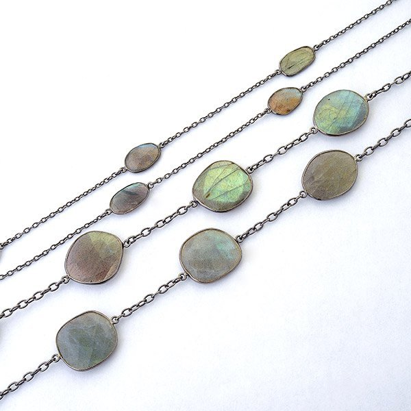Collection of Two Labradorite, Sterling Silver