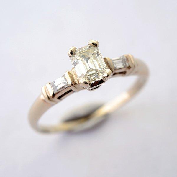 Diamond, 14k White Gold Ring.