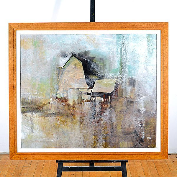 Albert Clymer, American Rural Art, Foggy Farm, Signed - 4