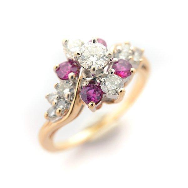 Diamond, Sapphire, 14k White Gold Ring.