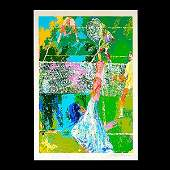 LEROY NEIMAN Tennis Serigraph Signed and numbered