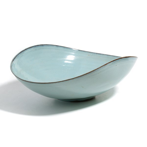 Natzler Blue Bowl.