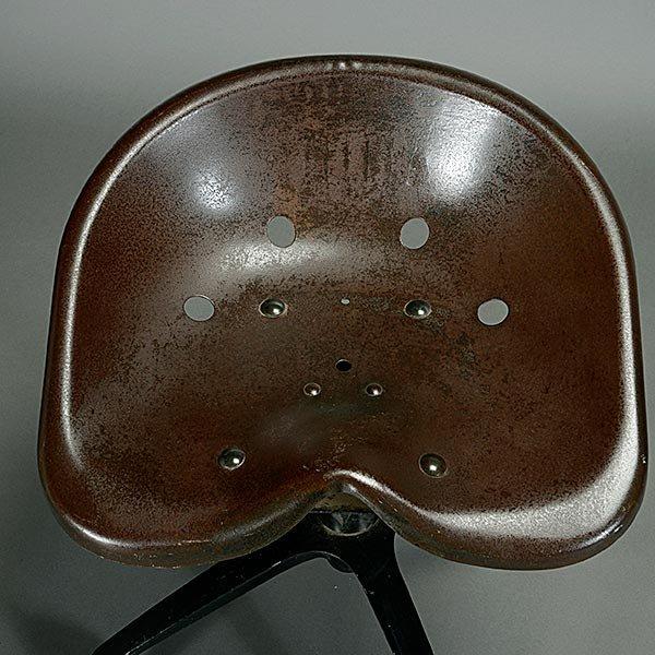 Vintage Industrial Modernist Saddle Seat Rolling Stool. - 2