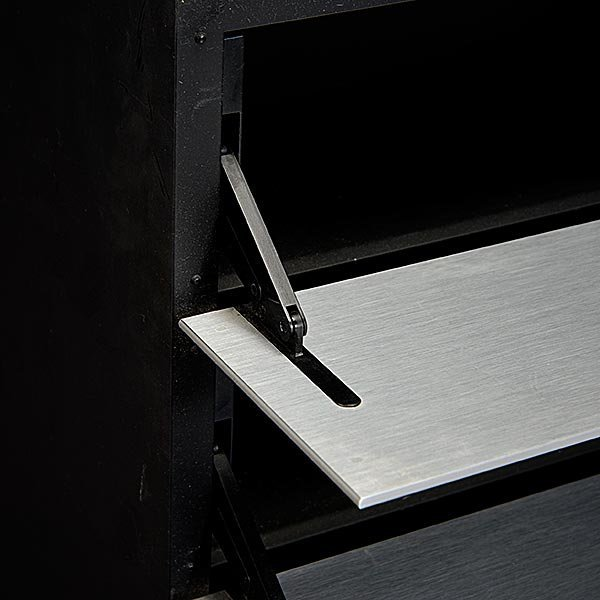 Bang & Olufsen Brushed Stainless Cabinet. - 4
