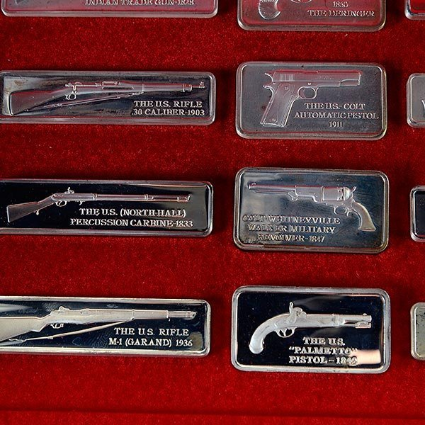 Silver Ingot Collection, American Weapons Hall of Fame, - 2