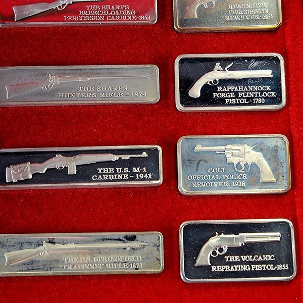 Silver Ingot Collection, American Weapons Hall of Fame, - 4
