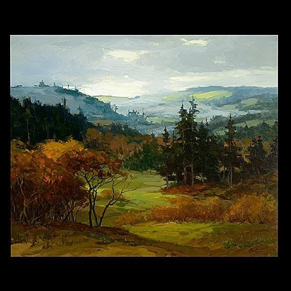 PETER SHEFFERS Oregon Landscape Oil on canvas