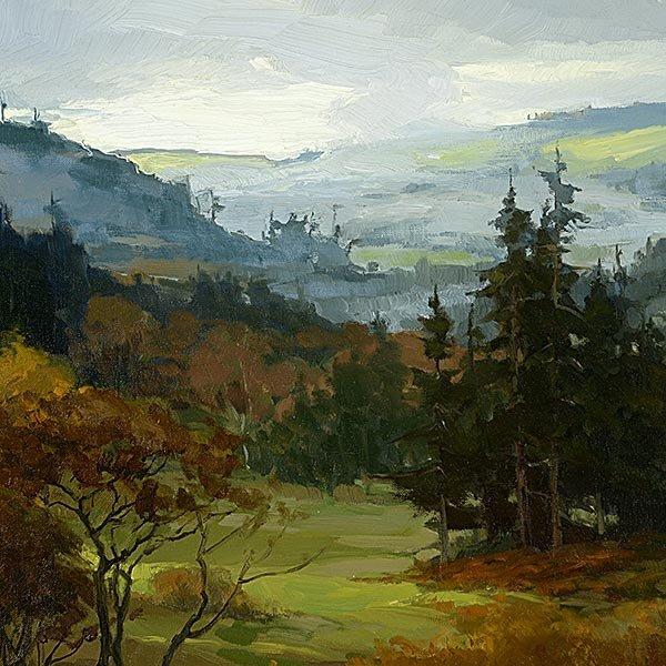 PETER SHEFFERS Oregon Landscape Oil on canvas - 3