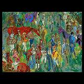 LEROY NEIMAN Before the Races Serigraph