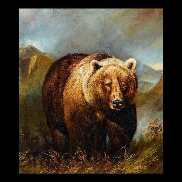 "TREVOR JAMES ""Grizzly Bear"" American Wildlife Art"