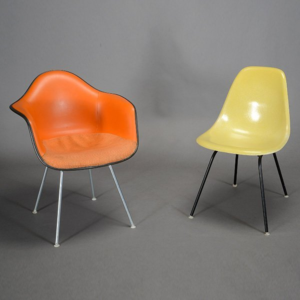 Herman Miller Eames Bucket Chair and Shell Chair