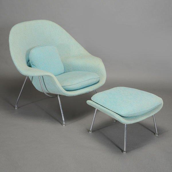 Saarinen 1910 1961 Knoll Womb Chair and Ottoman
