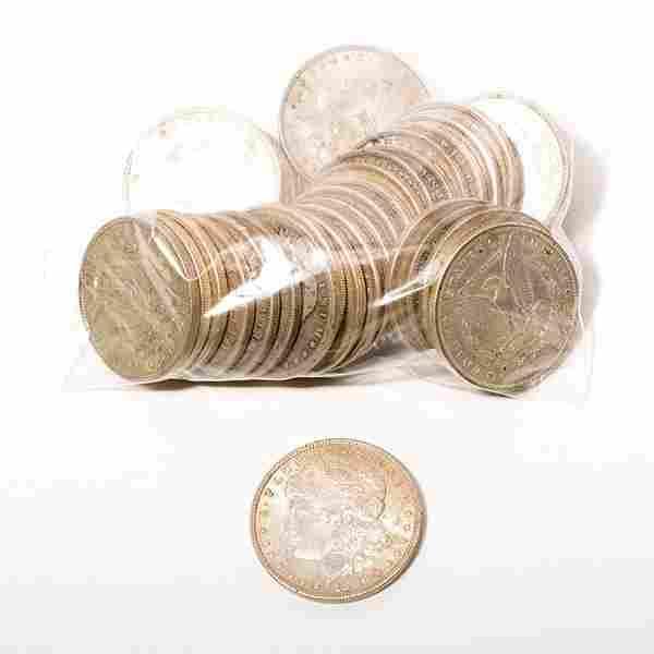 US Lot of 32 Morgan Dollars Common Dates, Mixed