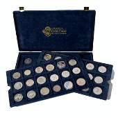 Collection of 50 Silver Coins of the World.