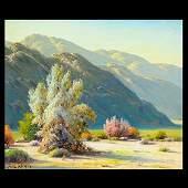 """PAUL GRIMM """"Desert Plein Air"""" oil on canvas board"""