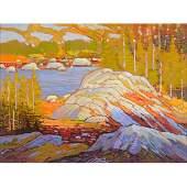 NICHOLAS BOTT, Evening Light Oil on Board Canadian Art