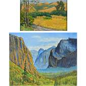 """Two LESTER GRANT KENT """"Landscapes"""" Oils on Board."""