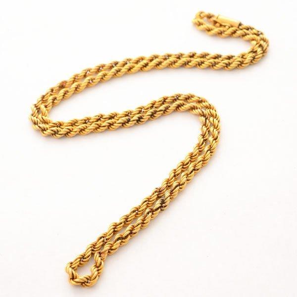 18k Yellow Gold Neck Chain.
