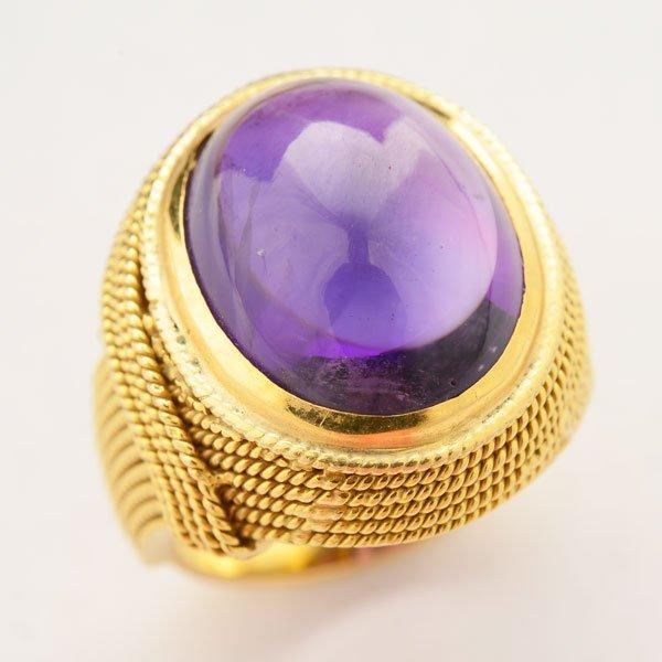 Amethyst, 18k Yellow Gold Ring.