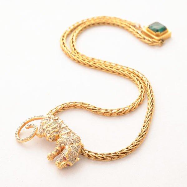 Diamond, Ruby, 14k Yellow Gold Pendant Necklace.